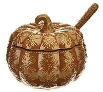 Temp-tations Old World 4 qt. Embossed Pumpkin Tureen w/ Ladle - H206214