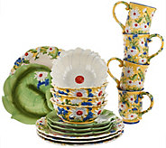 As Is Temp-tations 16-piece Figural Floral Dinnerware /4 - H207214
