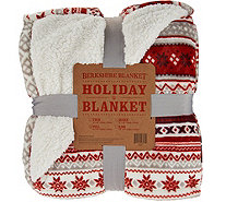 Berkshire Oversized Full Fair Isle Loftmink/Sherpa Blanket - H208614