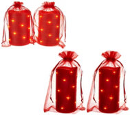Lightscapes (2) Glitter Swirl Light Flameless Candles w/Bags