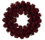 As Is ED On Air 14 Rustic Mixed Pinecone Wreath by Ellen DeGeneres - H210314
