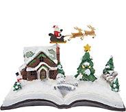 Plow & Hearth Illuminated Holiday Story Book Scene - H211614