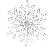 Santas Best 35 Snowflake w/125 LED Lights & 8 Functions - H212014