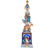 Jim Shore Heartwood Creek Stacked Nativity Lit Figurine - H212514