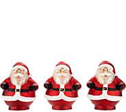 Set of 3 Mini Illuminated Mercury Glass Holiday Figurines - H213114