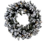 As Is Bethlehem Lights Prelit 24 Flocked Wreath - H215014