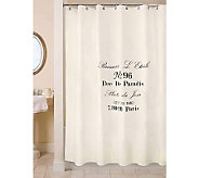 Vintage House Brasserie Natural/Black Shower Curtain - H356714
