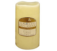 Flameless LED Candle Solid Ivory Vanilla Scented - H361514