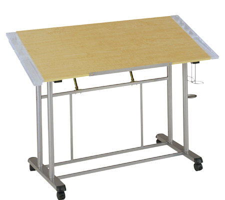 Home Styles Adjustable Drawing & Craft Table -Maple Finish