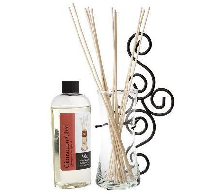 VirginiaCandleC WoodWick Reed Diffuser Wall Sconce w/Fragrance - Page 1 QVC.com