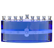 Copa Judaica Blue Ice Menorah - H144515