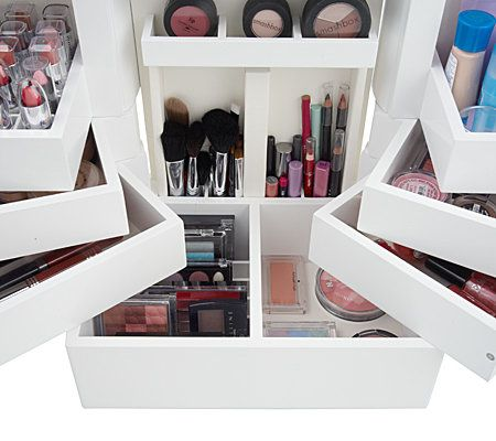 Luxury Deluxe Wood Cosmetic Box W/Mirror By Lori Greiner   Page 1 U2014 QVC.com