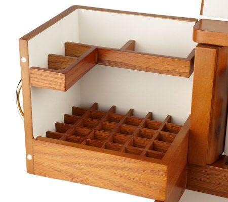 wood makeup organizer home decor. Black Bedroom Furniture Sets. Home Design Ideas