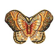 Royal Palace Bold Butterfly 22 x 32 Handmade Wool Rug - H195315