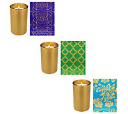 Home Reflections S/3 5.25oz Candles w/ Gift Boxes by Archipelago - H202315