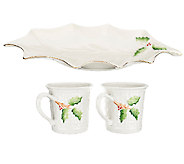 Belleek Everyday Handpainted Holly Mugs or Plates - H204615