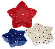 Temp-tations Set of 3 Red, White & Blue Nesting Bowls - H205115