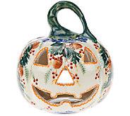 Lidias Polish Pottery Stoneware Jack OLantern Collectible - H206115