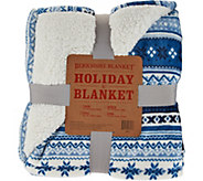 Berkshire Oversized Queen Fair Isle Loftmink/Sherpa Blanket - H208615