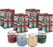 Set of (4) 2.5 oz. Candles w/ Gift Bags by Valerie - H209115