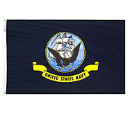Annin U.S. Navy Nyl-Glo Flag with Grommets 3 x5 - H282215
