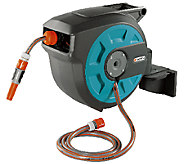 Gardena Auto Roll Up Swivel Hose Reel with 50Hose - H283315