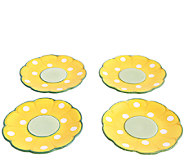 Temp-tations Set of 4 Friendship Flower DessertPlates - H284115