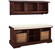 Crosley Brennan 2-Piece Entryway Bench and Shelf Set - H286715
