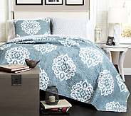 Sophie 3-Piece Blue Full/Queen Set by Lush Decor - H287515