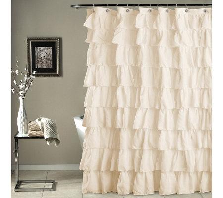 ruffle shower curtain by lush decor