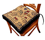 Rustic Cafe 16 x 16 Tapestry Chair Pad - H349315
