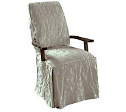Sure Fit Matelasse Damask Dining Room Chair with Arms - H359815
