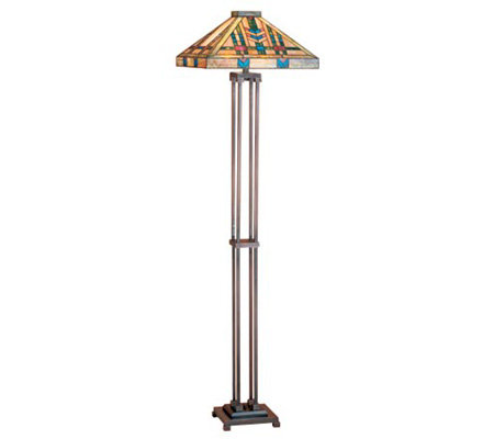 tiffany style prairie wheat mission floor lamp. Black Bedroom Furniture Sets. Home Design Ideas
