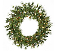 36 Prelit Mixed Country Pine Wreath by Vickerman - H143016