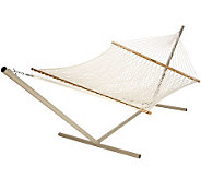 Pawleys Island Presidential Size Cotton Rope Hammock - H187216