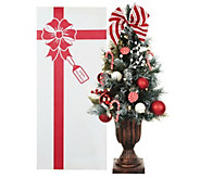 As Is Kringle Express 24 Pre-Lit Decorated Christmas Tree - H203616