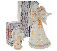 Temp-tations 8 Illuminated Ceramic Holiday Character with Ornament - H206216