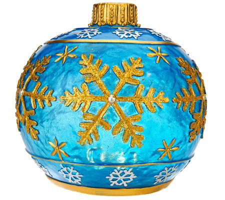 Kringle express outdoor glazed resin ornament luminary for Garden decking ornaments