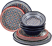 ED On Air 12/pc Celia Geo Dinnerware Set by Ellen DeGeneres - H208116