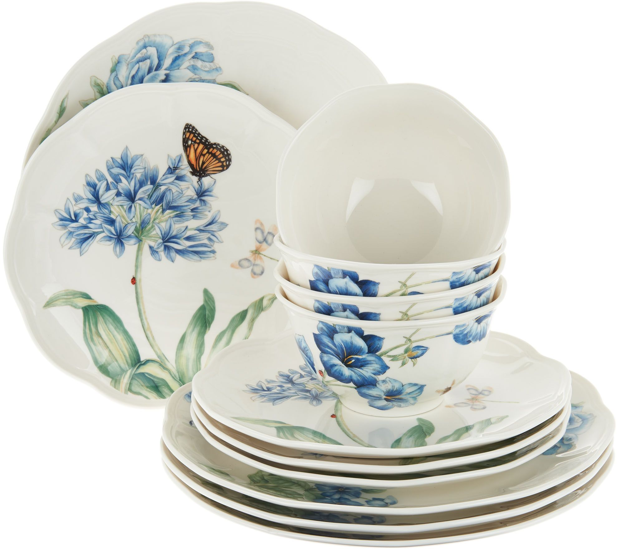 lenox butterfly meadow pc porcelain dinnerware set  page   - lenox butterfly meadow pc porcelain dinnerware set  page  — qvccom