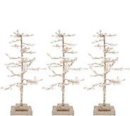 Set of 3 Sparkling Diamond Ice Trees by Valerie - H211916
