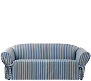 Sure Fit Grain Sack Stripe Sofa Slipcover - H288816