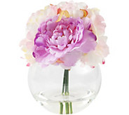 Pure Garden Pink Peony Floral Arrangement withGlass Vase - H291716