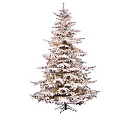 6.5 Flocked Sierra Pine PVC Tree with Clear Dura-Lit Lights - H362116
