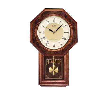 Seiko Schoolhouse Regulator Pendulum Wall Clock Qvc Com