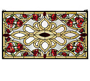 Meyda Tiffany-Style Rose Rectangle Window Panel - H124417