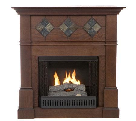 Buckingham Faux Slate Inset Gel Fuel Fireplace