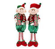 Set of 2 29 Elves Holding Gifts by Valerie - H203317