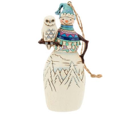 Jim Shore Heartwood Creek Snowman Ornament — QVC.com