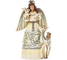 """Jim Shore Heartwood Creek 4 3/4""""H Angel with Animals Ornament"""